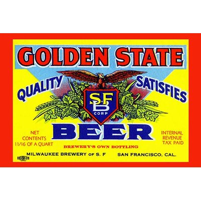 'Golden State Beer' Vintage Advertisement 0-587-22565-3C2436