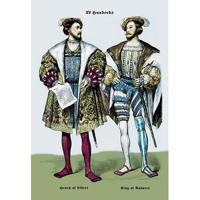 Henry of Ulbert and the King of Navarre, 16th Century by Richard Brown Painting Print Size: 66