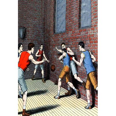 'Getting Physical on the Basketball Court' Painting Print 0-587-04188-9