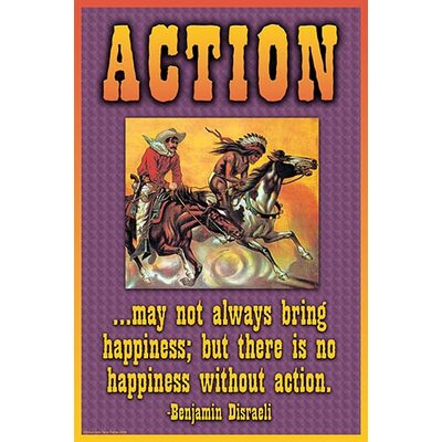 'Action' by Wilbur Pierce Vintage Advertisement 0-587-22332-4C2436