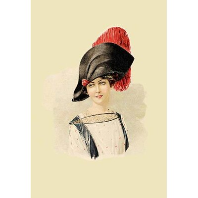 The Lady in the Red Feathered Cap Painting Print 0-587-11808-3