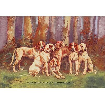 French Staghounds of the Chambray Strain by Baron Karl Reille Painting Print