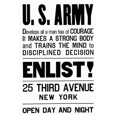 'U.S. Army Enlist' Textual Art 0-587-21529-1