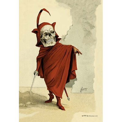 'Red Death' by F. Frusius M.D. Painting Print 0-587-06268-1