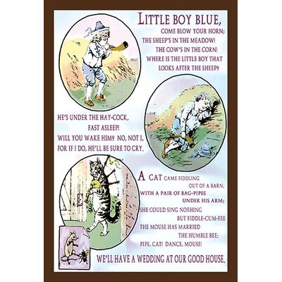 'Little Boy Blue' Framed Graphic Art 0-587-13468-2