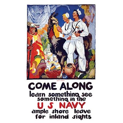'Come Along - Learn Something, See Something' by James Henry Daugherty Graphic Art Size: 30