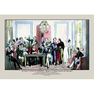 'The Actor's Climax' by Pierce Egan Painting Print 0-587-06402-1C2436