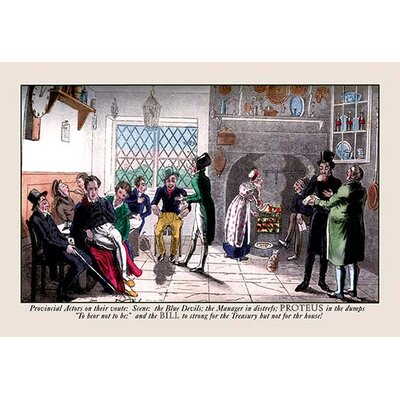 'Time for the Provincial Actors to Pay the Bill' by Pierce Egan Painting Print 0-587-06404-8