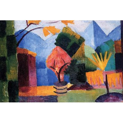 'Garden on the Lake of Thun' by August Macke Painting Print Size: 36