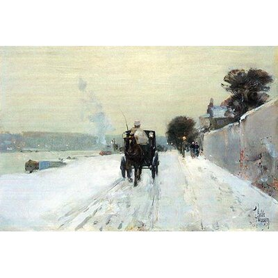 "'Along the Seine' by Frederick Childe Hassam Painting Print Size: 44"" H x 66"" W 0-587-25227-8C4466"