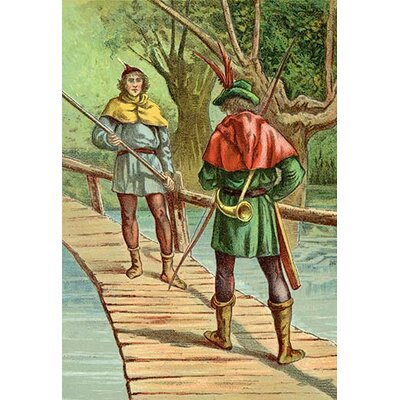 Robin Hood: Encounter With a Giant Painting Print