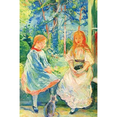 'Two Girls by the Window' by Berthe Morisot Painting Print 0-587-25864-0