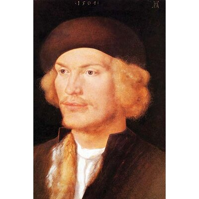 'Portrait of a young man 2' by Albrecht Durer Painting Print 0-587-26490-x
