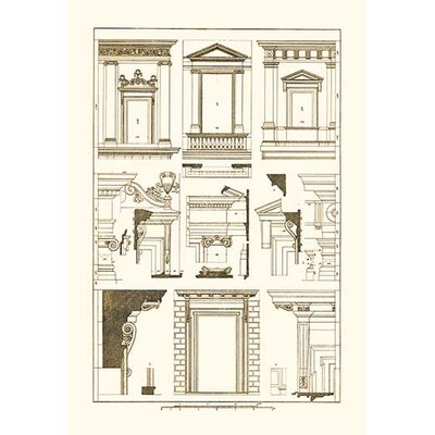 Windows of Palazzo Non Finito, Palace and House at Rome by J. Buhlmann Graphic Art 0-587-09325-0