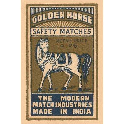 'Golden Horse Safety Matches' Vintage Advertisement 0-587-26137-4