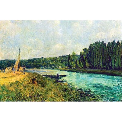 'The Banks of The Oise' by Alfred Sisley Painting Print Size: 66