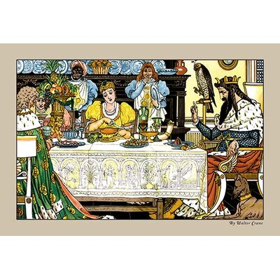 The Frog Prince Illustration by Walter Crane Painting Print 0-587-09602-0C2436