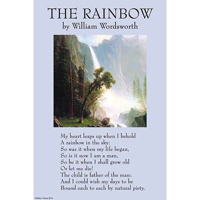 'The Rainbow' by William Wordsworth Wall Art