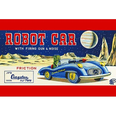 'Robot Car with Firing Gun & Noise' Vintage Advertisement 0-587-25049-6