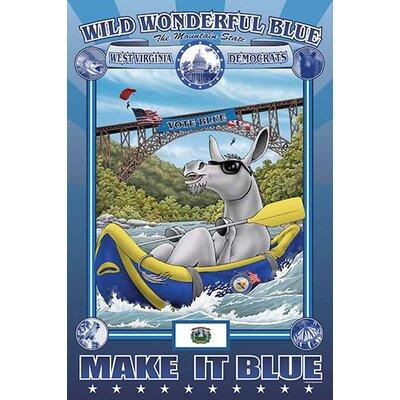 'Wild Wonderful Blue - West Virginia' by Richard Kelly Graphic Art