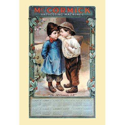 'Mccormick Calendar Young Farmers' Vintage Advertisement 0-587-14477-7