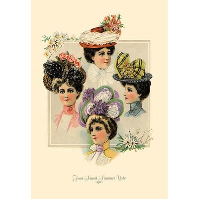 Four Smart Summer Hats Painting Print 0-587-13420-8C2842