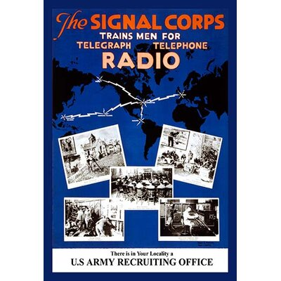 'The Signal Corps' by Harry S. Mueller Vintage Advertisement 0-587-21517-8