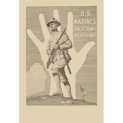 'U.S. Marines, Uncle Sam's Right Hand' by R. McBride Vintage Advertisement Size: 30