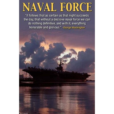 'Naval Force' by Wilbur Pierce Graphic Art Size: 66