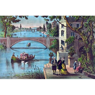 'The Reception of Benjamin Franklin in France' by Charles Brothers Graphic Art