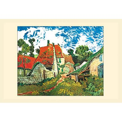 'Street in Auvers' by Vincent van Gogh Framed Painting Print 0-587-15951-0