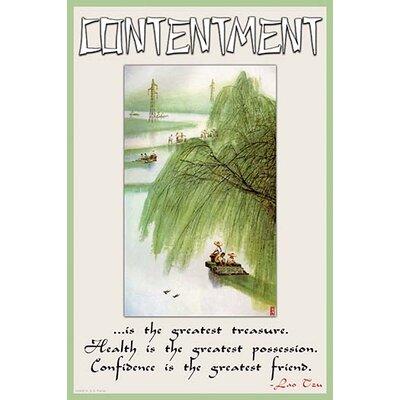 'Contentment' by Wilbur Pierce Vintage Advertisement Size: 66