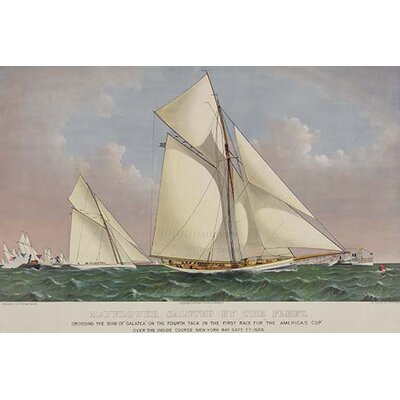 "'America's Cup Yacht Race 1886' Vintage Advertisement Size: 30"" H x 20"" W 0-587-24373-2"