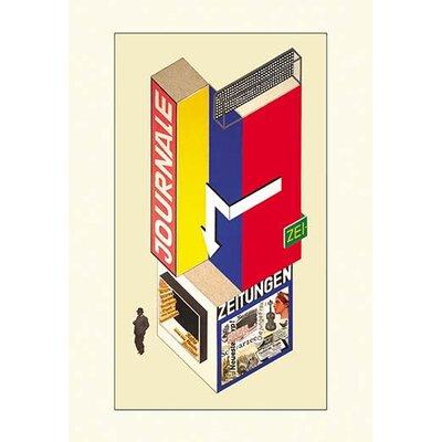 'Entwurf eines Kiosk (Design of a Newsstand)' by Herbert Boyer Graphic Art