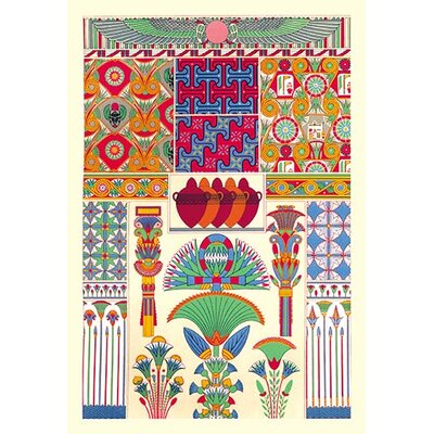 'Egyptian Décor' by Auguste Racinet Graphic Art