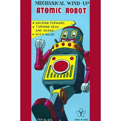 'Mechanical Wind-Up Atomic Robot' Vintage Advertisement 0-587-24930-7C4466