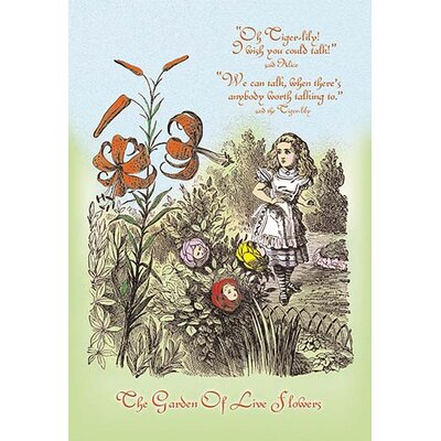 'Through the Looking Glass: Garden of Live Flowers' by John Tenniel Painting Print 0-587-17133-2C2030