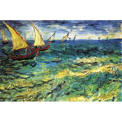 'Seascape with Sailboats' by Vincent van Gogh Painting Print 0-587-19300-xC2030