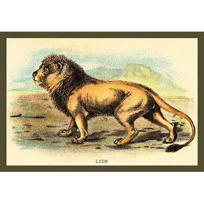 'Lion' by Sir William Jardine Painting Print