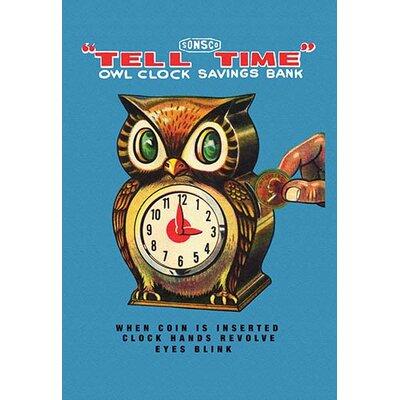 'Tell Time Owl Clock' Vintage Advertisement