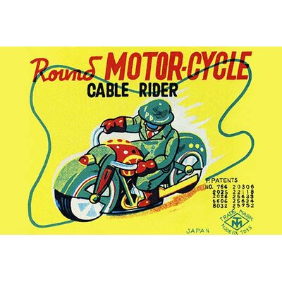 'Round Motor-cycle Cable Rider' Vintage Advertisement 0-587-25124-7C2030