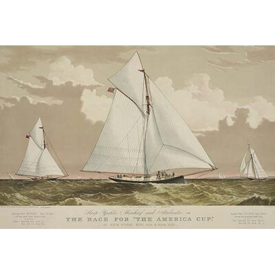 """'Sloop yachts Mischief and Atalanta' Graphic Art Size: 30"""" H x 20"""" W 0-587-24375-9"""