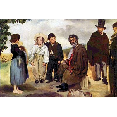 'The Old Musician' by Eduard Manet Painting Print 0-587-25895-0