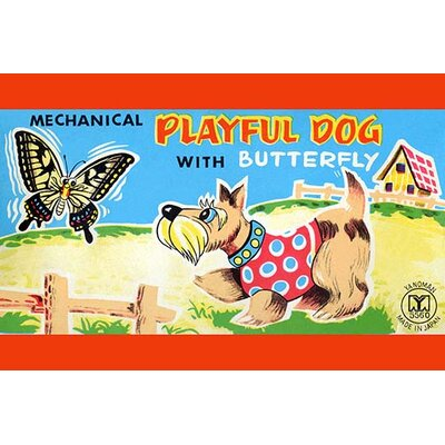'Playful Dog with Butterfly' Vintage Advertisement 0-587-25113-1