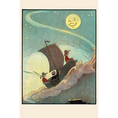 'Sailing the Wooden Shoe by Moonlight' by Eugene Field Painting Print Size: 30