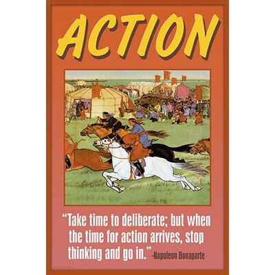 'Action' by Wilbur Pierce Graphic Art 0-587-22372-3C2842