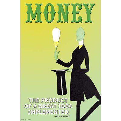 'Money the Product of a Great Idea Implemented' by Wilbur Pierce Vintage Advertisement 0-587-22160-7C2436