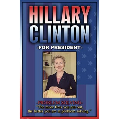 'Hillary Clinton For President' by Wilbur Pierce Graphic Art 0-587-22414-2