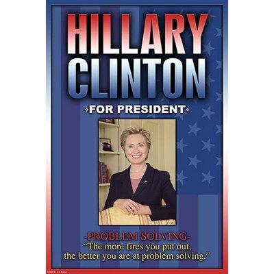 'Hillary Clinton for President' by Wilbur Pierce Vintage Advertisement 0-587-22414-2