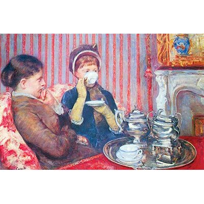 "'A Cup of Tea #2' by Mary Cassatt Painting Print Size: 30""H x 20"" W 0-587-25776-8"